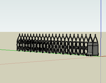 电动门SketchUp模型