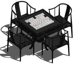 3款麻将桌SketchUp模型