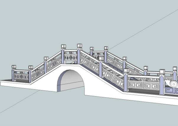 石拱桥SketchUp模型