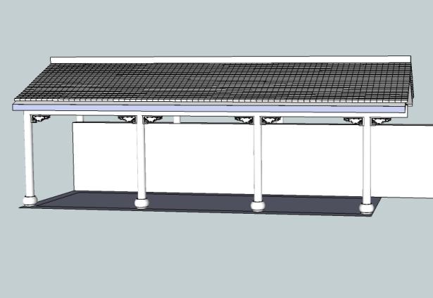 小青瓦长廊SketchUp模型