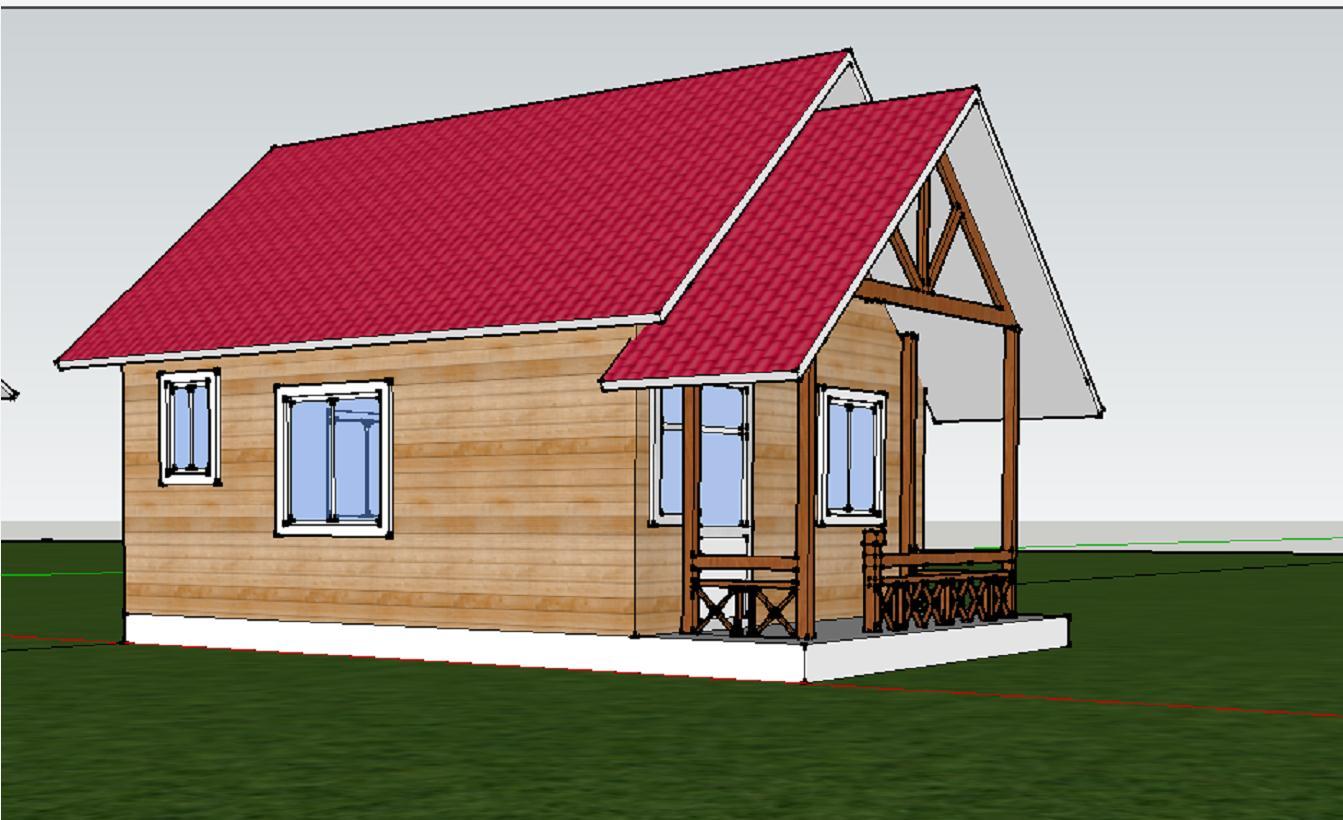 6.2X5.4米小木屋设计详图