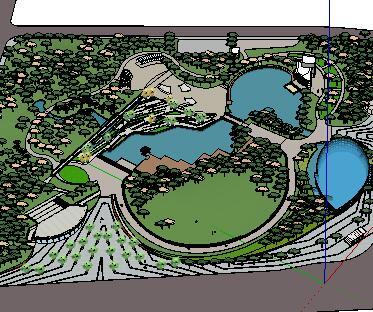 某大型公园景观设计SketchUp模型