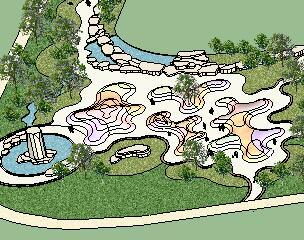 某住宅区公园园林景观SketchUp模型