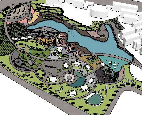 某湖滨公园景观设计SketchUp模型3