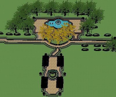巴洛克小公园景观设计SketchUp模型