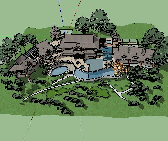 某会所公园景观设计SketchUp模型