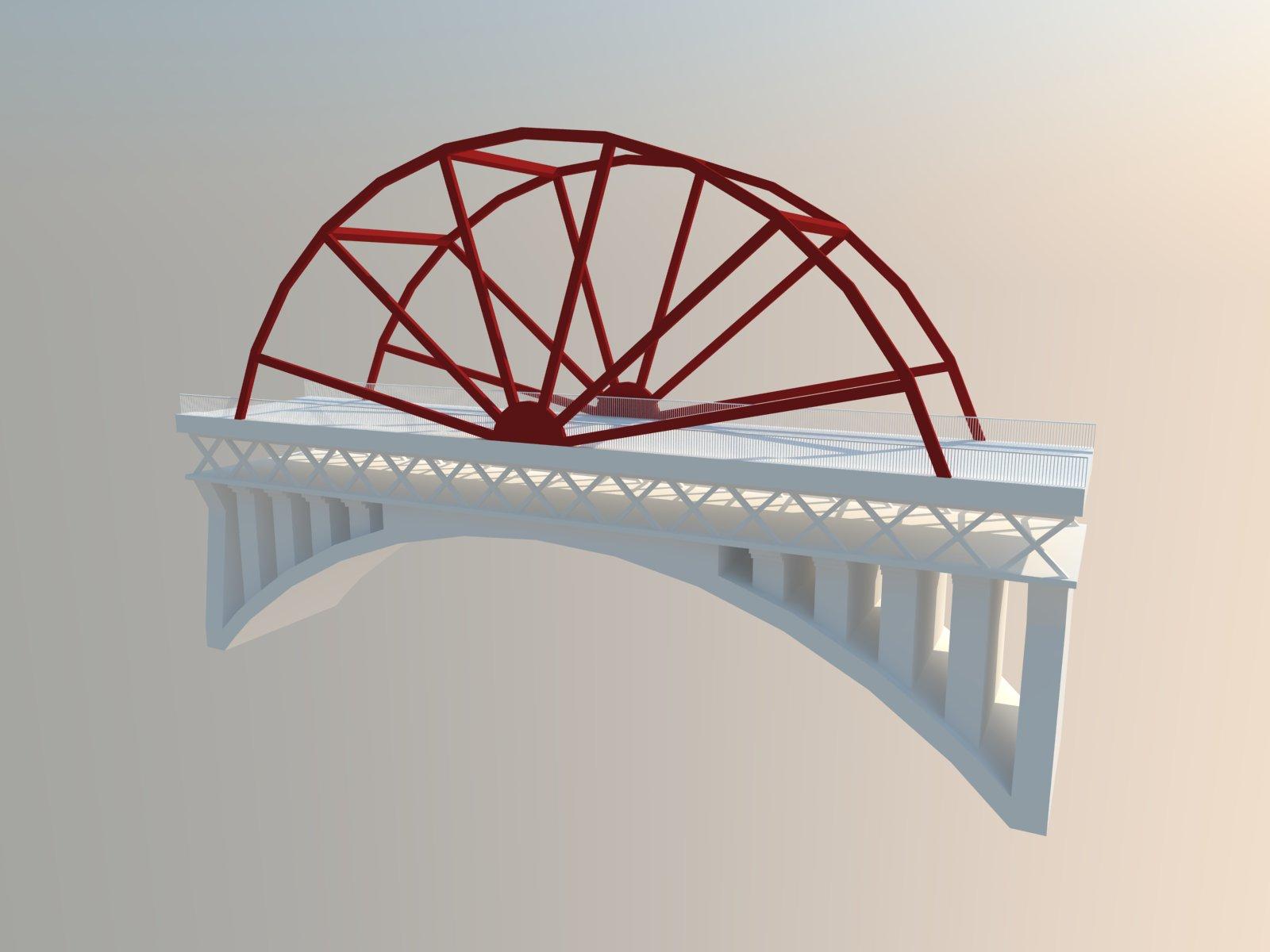园林景观高架桥SketchUp模型