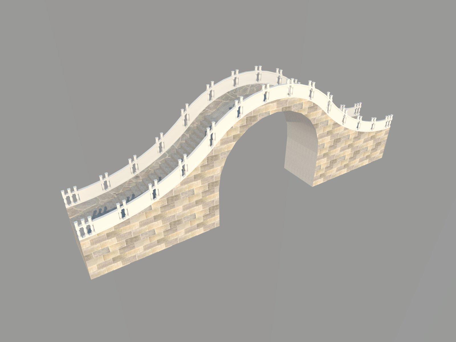 园林景观拱桥SketchUp模型