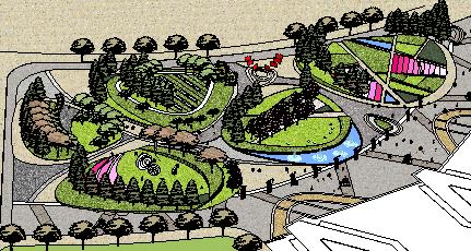 概念公园sketchup模型公园景观