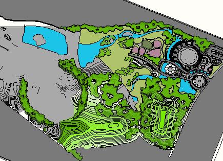 城市公园景观规划设计(su模型)