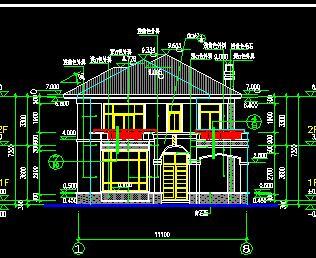 二层独栋框架别墅建筑结构施工图纸