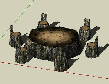 园林小品SketchUp模型