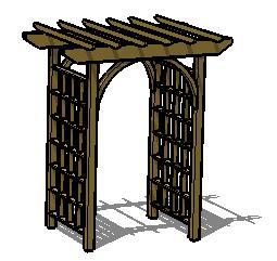 木花架SketchUp模型