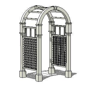 欧式拱门SketchUp模型