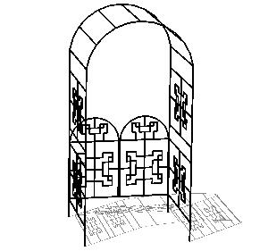 铁艺拱门SketchUp模型