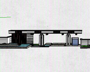 大门围墙景观澳门威利斯赌场SketchUp模型