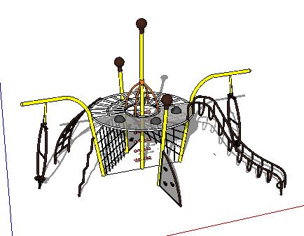 儿童设施SketchUp模型