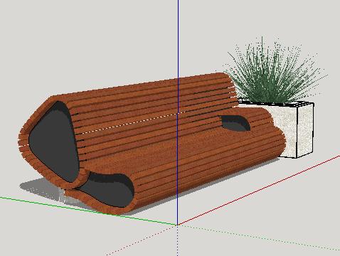 创意坐凳SkethUp模型