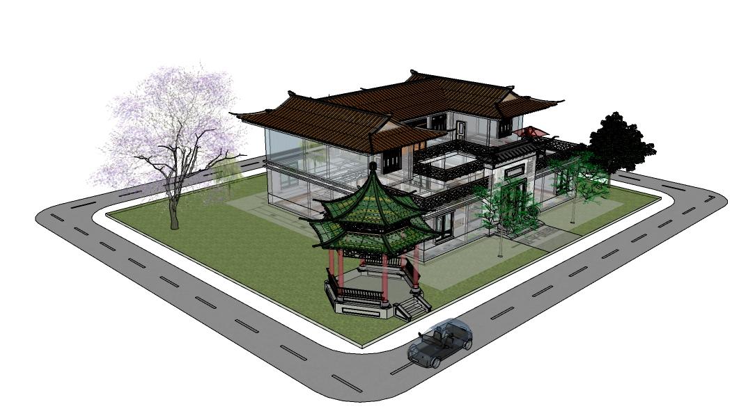 四合院SketchUp模型