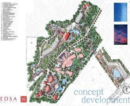 酒店景观设计图