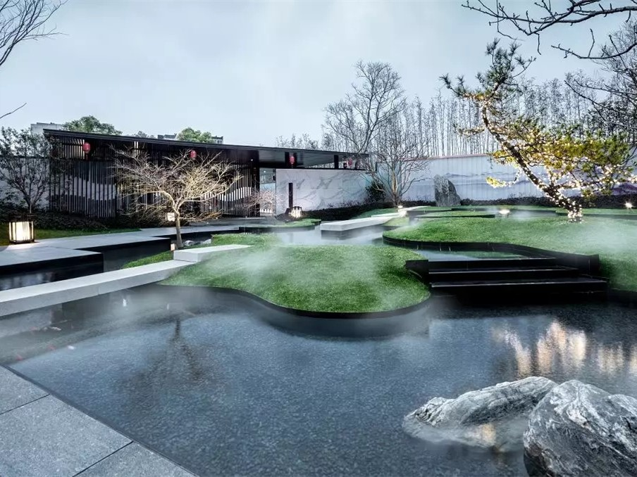 山林写意新中式住宅示范区景观设计实例(图文)
