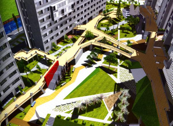 景观设计必学的产业处理园区手法经典高差设计图片