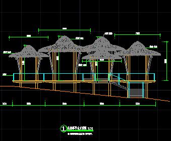 景观休闲生态休闲亭设计图