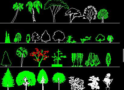 立面树木图例免费下载 - 园林景观素材 - 土木工程网