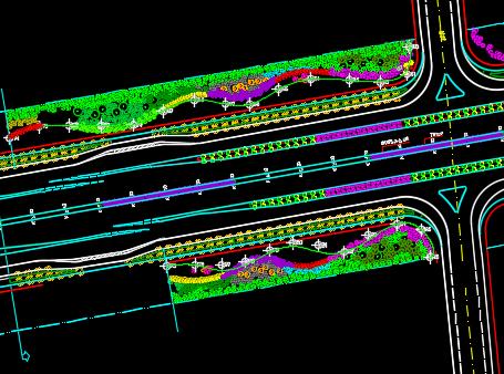 城市道路绿化设计图纸