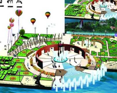 某文化休闲活动广场设计方案免费下载 - 园林毕业设计