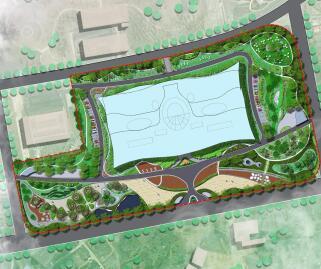 图书馆新馆环境景观设计毕业设计方案