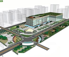 城市地铁出入口景观设计毕业设计方案