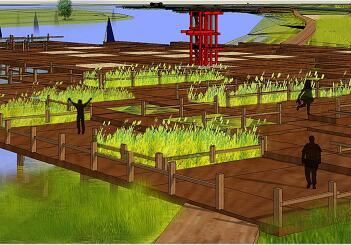 某沿河景观规划设计毕业设计方案