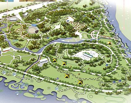 《滨河绿色廊道规划设计》毕业设计方案