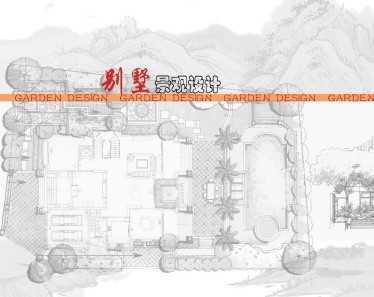 别墅庭院设计-手绘高清图