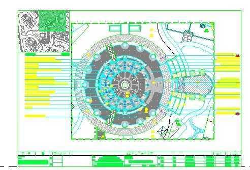 中心广场铺装设计图纸