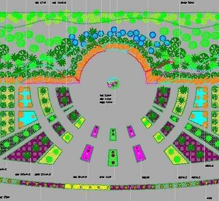 节点广场绿化平面图