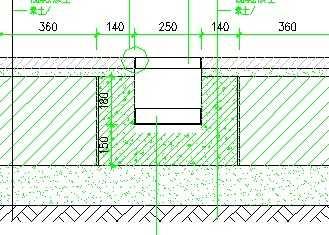 卵石镶嵌铺装及地灯槽平面详图