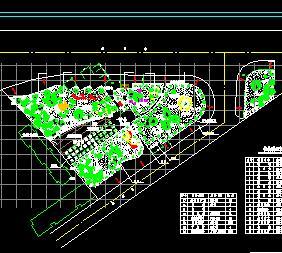 某道路三角绿地绿化设计图纸图片