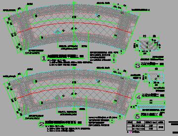 高端标准弧线样式园林铺装详图