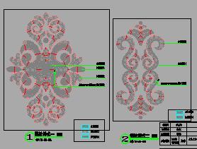 地花模纹铺装样式详图