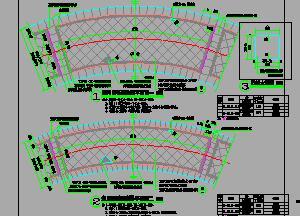 红色弧线系园路石材铺装样式详图