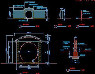 园路铺装及院墙设计详图
