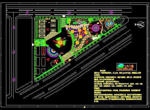 街旁绿地种植设计平面图