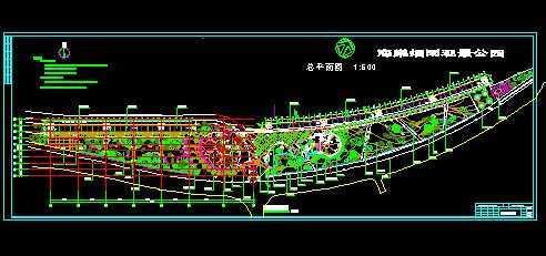 海棠烟雨公园总平面图免费下载 - 景观规划设计