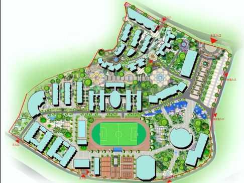 校园景观规划设计图