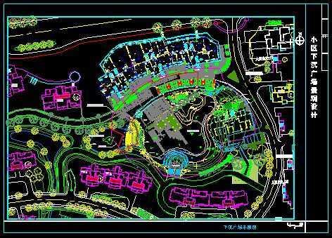 小区下沉广场景观设计图