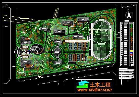 某中学校园景观规划设计总平面图