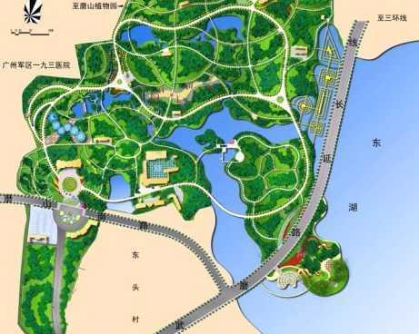 园林常用植物彩绘平面图