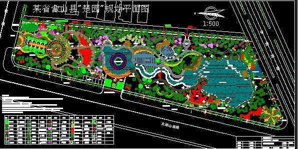 景观小区设计总平图cad
